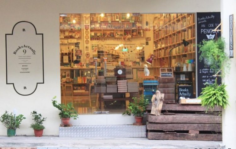 متجر الكتب المستقلة في الحي الصيني بسنغافورة