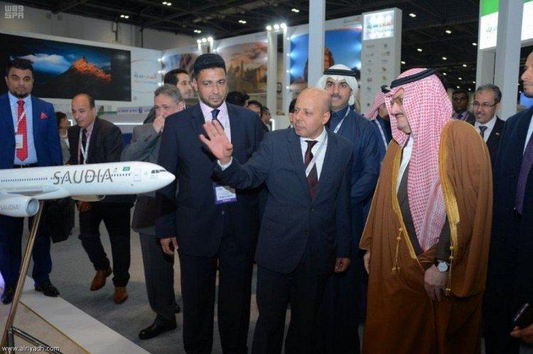 سمو الامير محمد بن نواف يفتتح جناح المملكة فى معرض سوق السفر العالمى