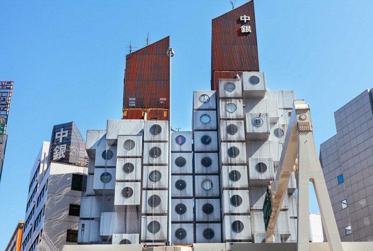 برج ناكاجين او برج الكبسولة فى اليابان