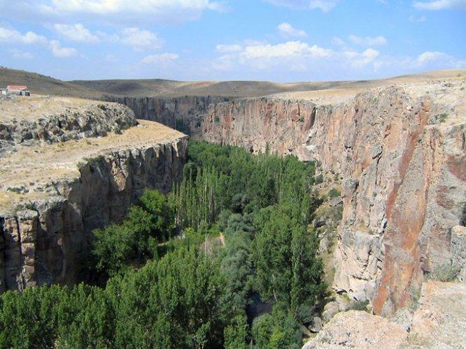وادي Ihlara في منطقة كابادوكيا