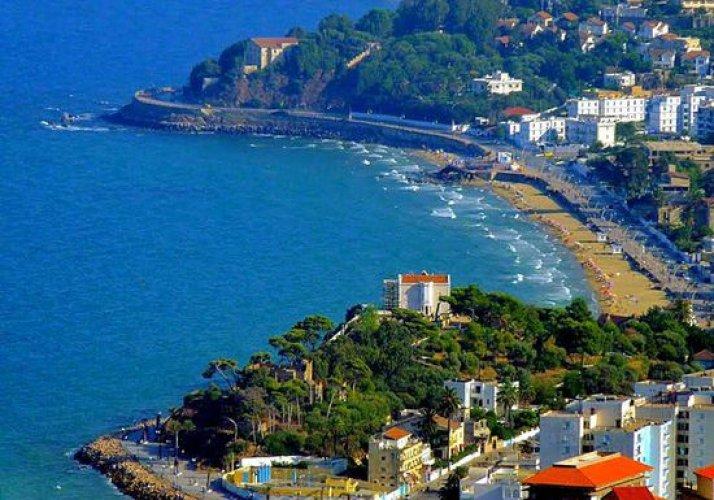 اطلالة الجزائر الرائعه علي البحر الابيض المتوسط