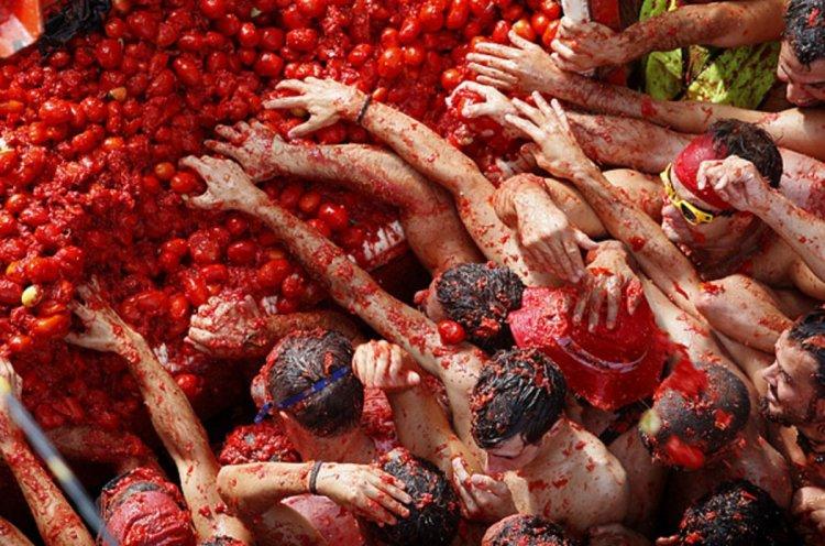 مهرجان رمي الطماطم