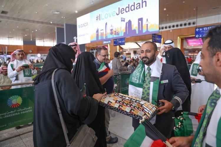 احتفال مطار جدة باليوم الوطني للكويت