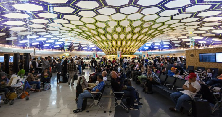 صالة الانتظار بمطار أبو ظبي الدولي