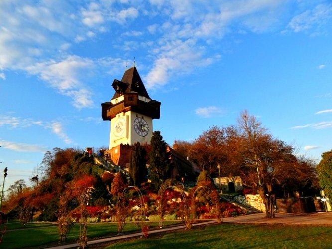 برج الساعة في غراتس النمسا