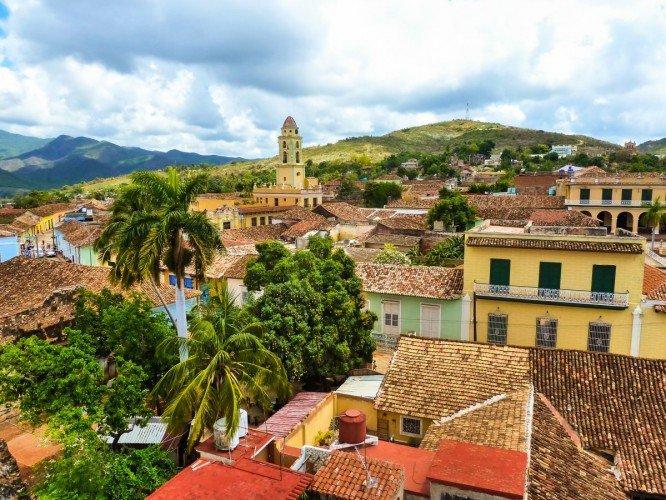 مباني كوبا القديمة في ترينيداد كوبا