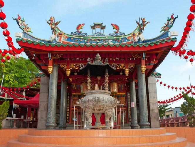 معبد توا بيك كونغ في كوتشينغ ماليزيا