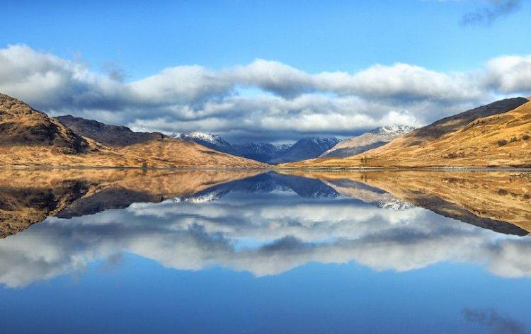 بحيرة Tummel في اسكتلندا