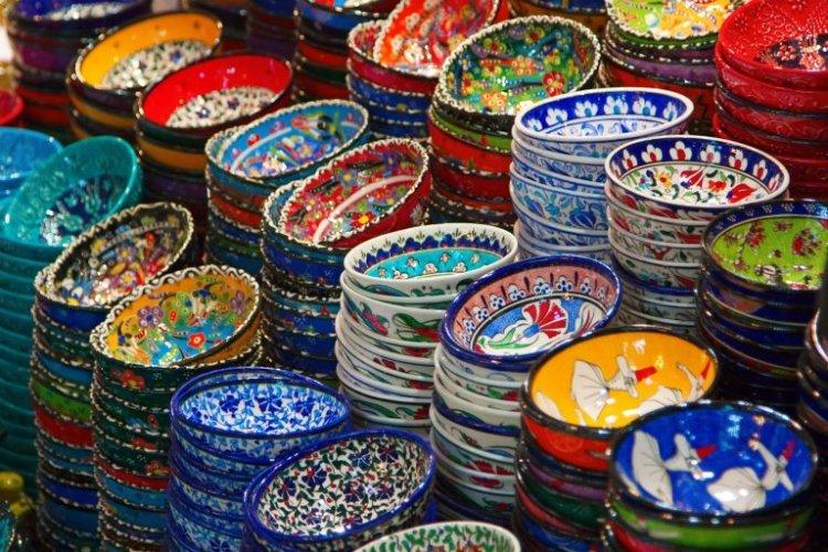المنتجات اليدوية في سوق Marmaris Pazarı