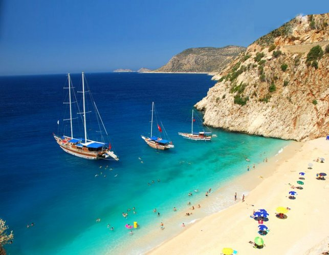 شاطئ كابوتس بتركيا