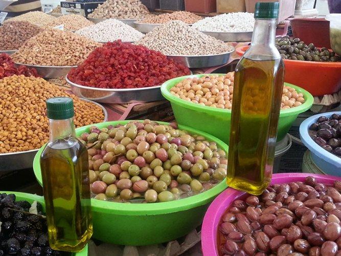 منتجات سوق Milas Pazarı