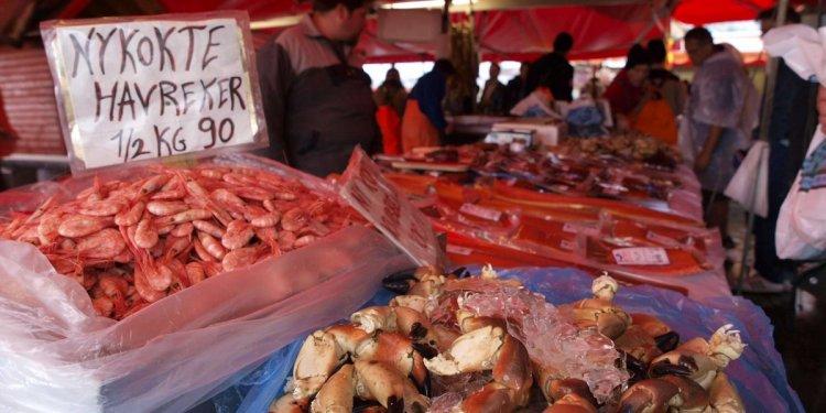 سوق السمك في بيرغن النرويج