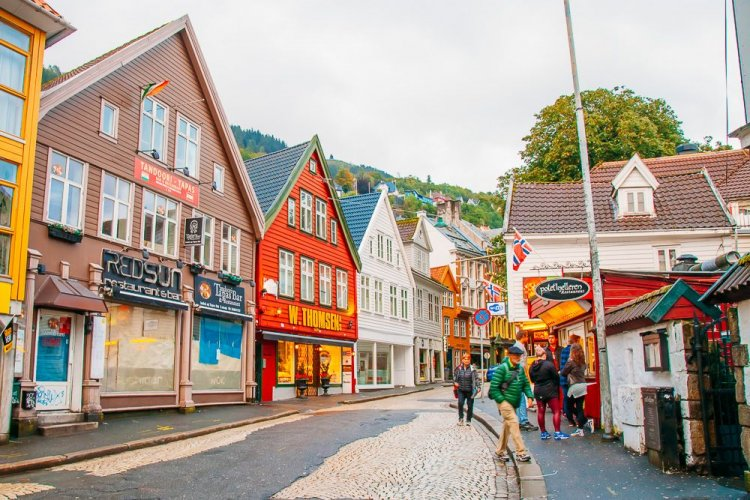 مركز مدينة بيرغن النرويج