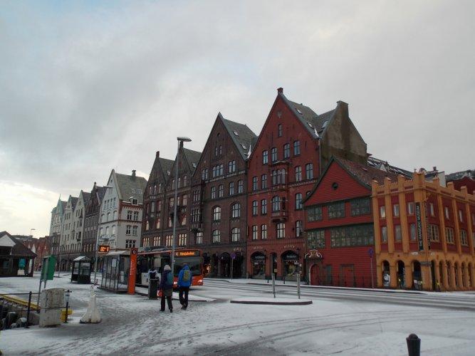 منطقة الهانزية التاريخية في بيرغن النرويج