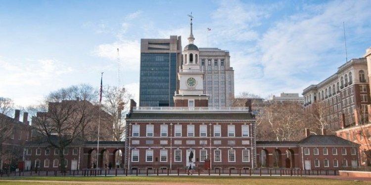 قاعة الاستقلال في مدينة فيلادلفيا الأمريكية