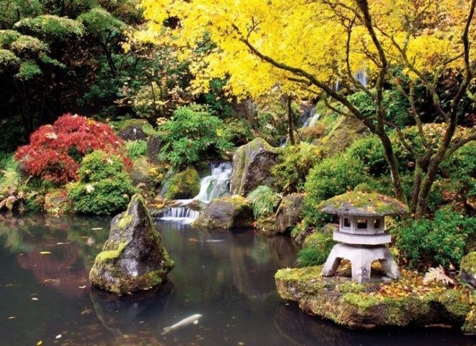حديقة بورتلاند اليابانية في مدينة بورتلاند الأمريكية