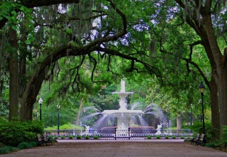 حديقة فورسيث في مدينة سافانا جورجيا