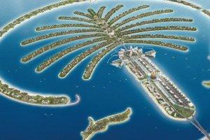 جزر في دبي علي شكل نخلة