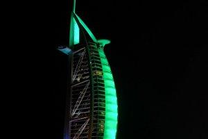 الإمارات تكتسي باللون الأخضر