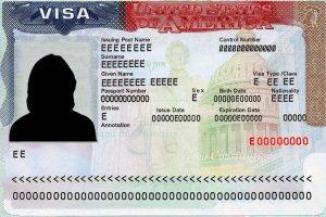 نموذج لتأشيرة سفر أمريكية