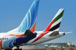حصة طيران الامارات وفلاي دبي في رحلات السعودية