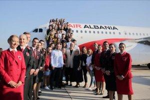 اول رحلة للخطوط الألبانية