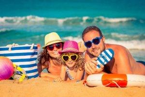 العطلة الصيفية على الشاطئ