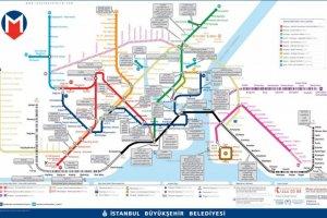 خريطة مترو اسطنبول باللغة العربية