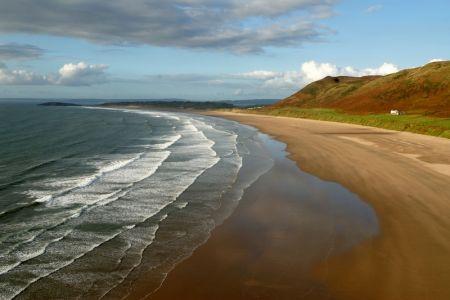 شواطئ السواحل البريطانية