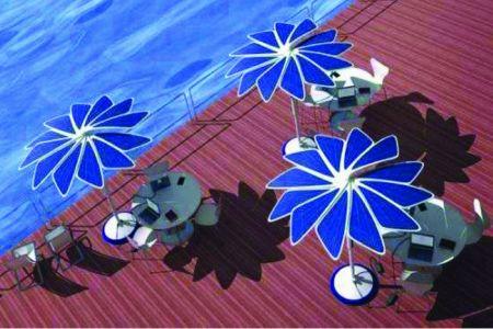 الطاقة الشمسية في تشغيل المظلات