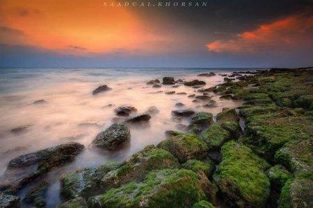 الشواطئ المتلألئة في رأس الطرفة بجازان
