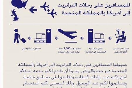 الخطوط السعودية تقديم خدمة استلام الأجهزة الإلكترونية