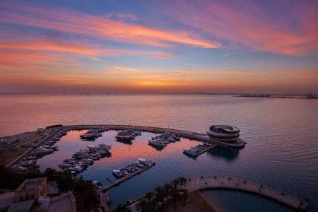 الغروب من الدوحة