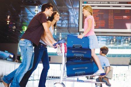 السفر مع الاطفال