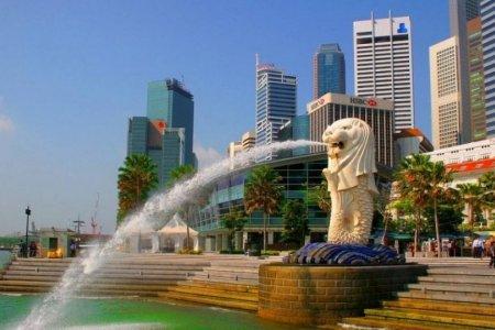 احد الميادين العامة في سنغافورة
