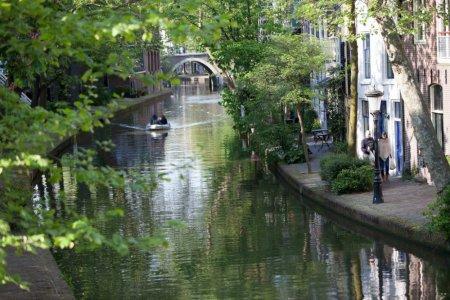 ركوب القوارب في مدينة أوتريخت بهولندا