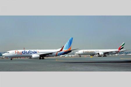 طيران الامارات وفلاي دبي