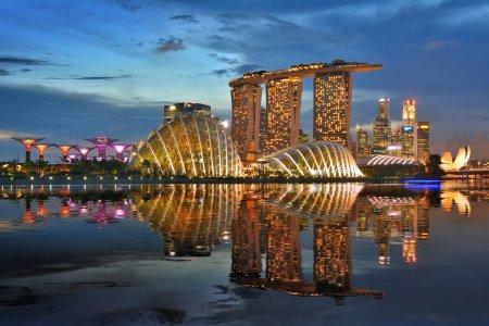 سنغافورة تحت المطر