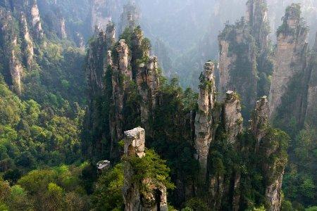 روعة المنظر في حديقة تشانغجياجيه الوطنية