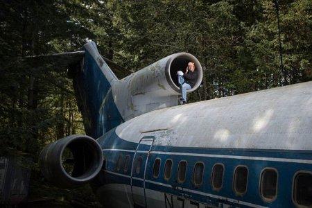 طائرة ركاب يسكنها مهندس طيران