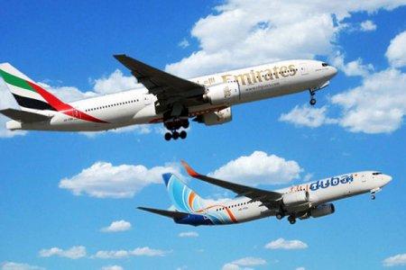فلاي دبي وطيران الإمارات