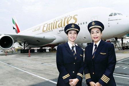 تصدر الامارات في نسبة النساء العاملات في قطاع الطيران