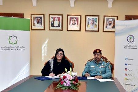 شرطة الشارقة توقع اتفاقية مع هيئة الشارقة للمتاحف