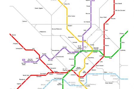 خريطة مترو ميلان