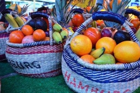 الفواكه الطازجة في اسواق هامبورغ