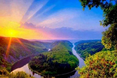 نهر فرناس وقت الغروب