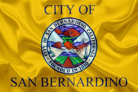 علم مدينة سان برناردينو الأمريكية