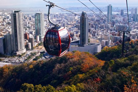 التلفريك في كوبي اليابان