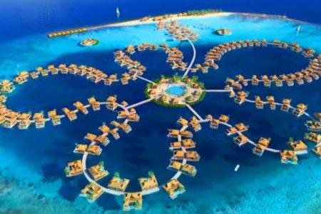 فندق جزيرة زهرة المحيط في جزر المالديف