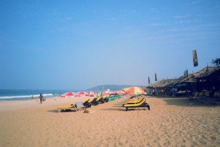 شاطئ كالانغوتي في ولاية جوا - الهند